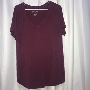 Burgundy American Eagle Soft and Sexy Long Sleeve